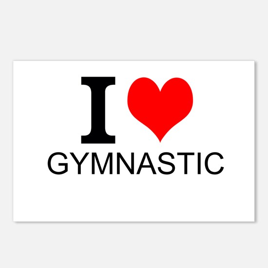 I Love Gymnastics Postcards (Package of 8)