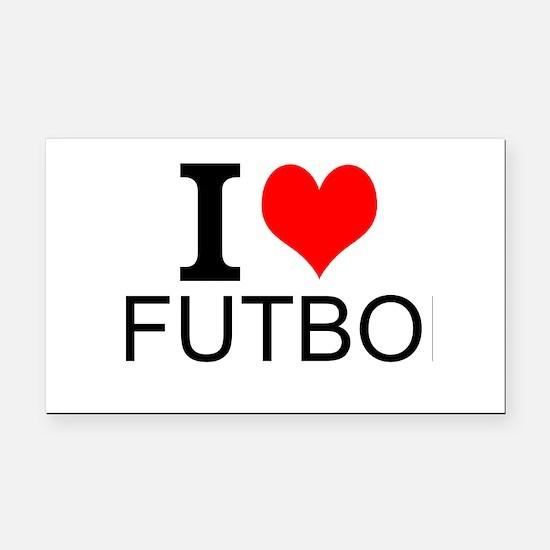 I Love Futbol Rectangle Car Magnet