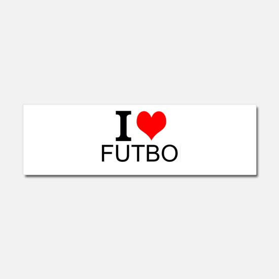 I Love Futbol Car Magnet 10 x 3