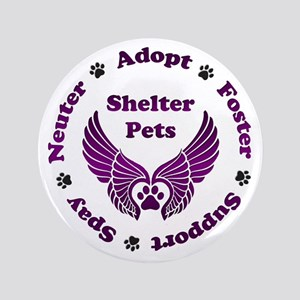 "Shelter Pets 3.5"" Button"