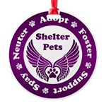 Shelter Pets Round Ornament