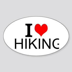 I Love Hiking Sticker