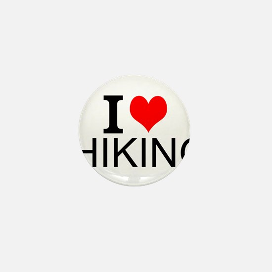 I Love Hiking Mini Button