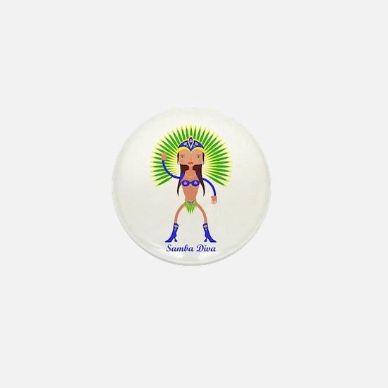 Brazillian Samba Dancer Mini Button