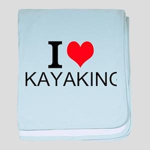 I Love Kayaking baby blanket