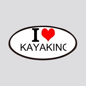 I Love Kayaking Patches