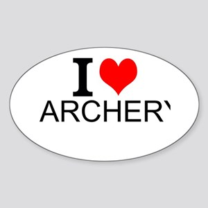 I Love Archery Sticker