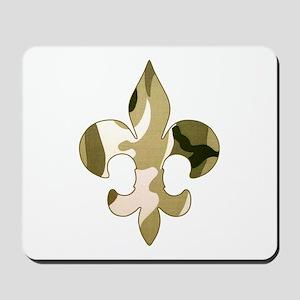 Fleur de lis Camo Mousepad