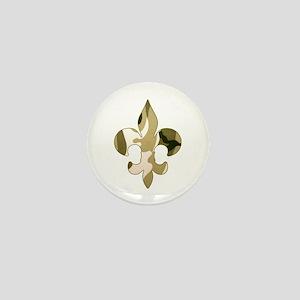 Fleur de lis Camo Mini Button