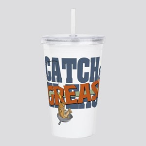 catch grease2 Acrylic Double-wall Tumbler