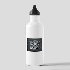 What Happens At Grandmas Chalkboard Water Bottle