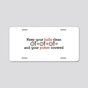 Putter Covered Aluminum License Plate
