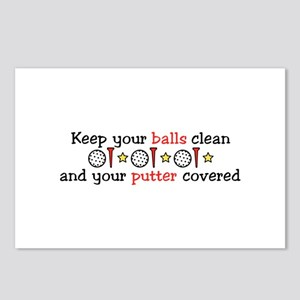 Putter Covered Postcards (Package of 8)