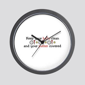 Putter Covered Wall Clock