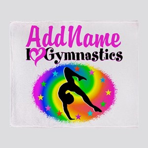 TOP NOTCH GYMNAST Throw Blanket