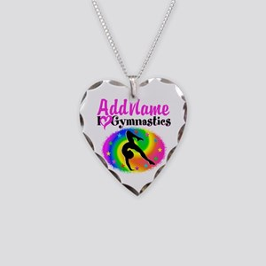 TOP NOTCH GYMNAST Necklace Heart Charm