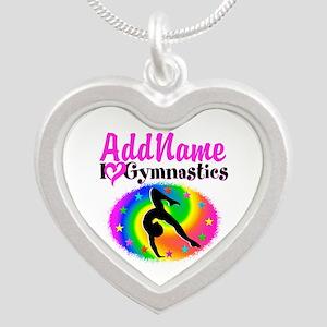 TOP NOTCH GYMNAST Silver Heart Necklace