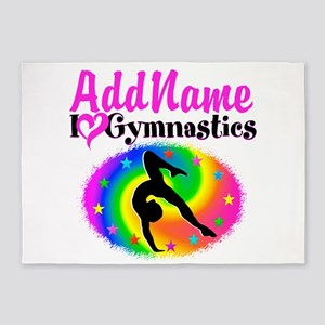 TOP NOTCH GYMNAST 5'x7'Area Rug