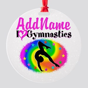TOP NOTCH GYMNAST Round Ornament