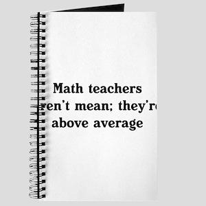 Math teachers arent mean Journal