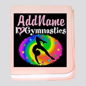 TOP NOTCH GYMNAST baby blanket