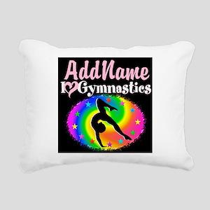 TOP NOTCH GYMNAST Rectangular Canvas Pillow