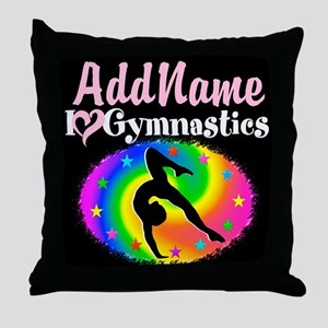 TOP NOTCH GYMNAST Throw Pillow
