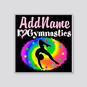"TOP NOTCH GYMNAST Square Sticker 3"" x 3"""