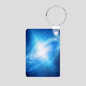 Blue Galaxy Keychains