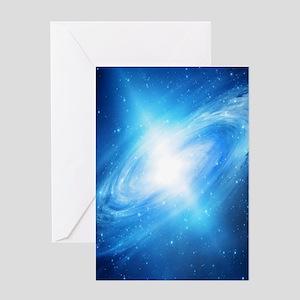 Blue Galaxy Greeting Cards