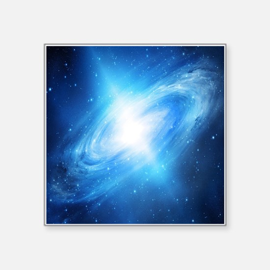Blue Galaxy Sticker