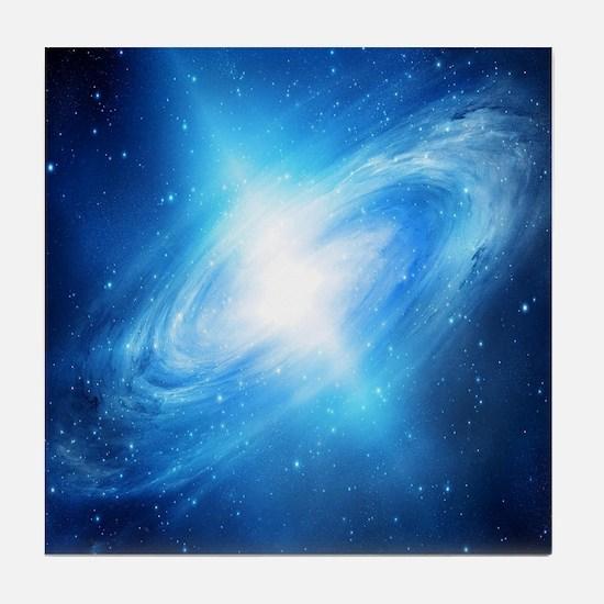 Blue Galaxy Tile Coaster