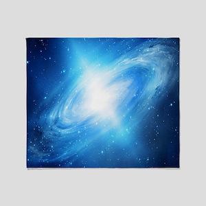 Blue Galaxy Throw Blanket