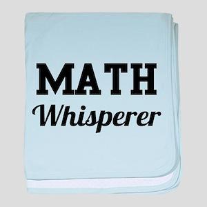Math whisperer baby blanket