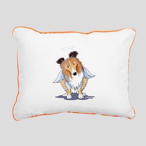 Raspberry Beret Brittany Rectangular Canvas Pillow