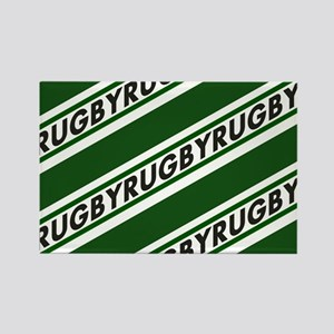 Rugby Striped green white Magnets