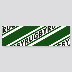 Rugby Striped green white Bumper Sticker