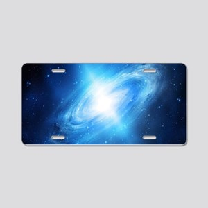 Blue Galaxy Aluminum License Plate