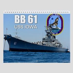 Uss Iowa Battleship Bb-61 Wall Calendar