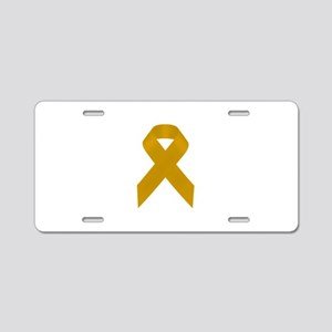 Gold Awareness Ribbon Aluminum License Plate