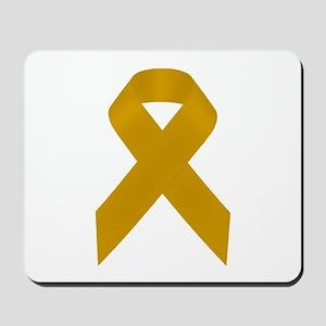 Gold Awareness Ribbon Mousepad
