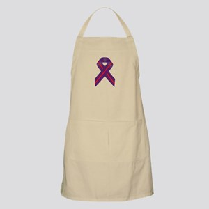 Purple With Red Stripe Awareness Ribbon Apron