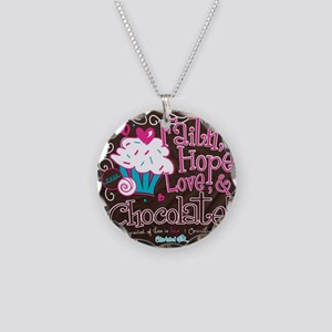 chocolate Necklace Circle Charm