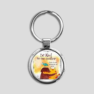 Be kind Round Keychain