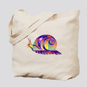 Polygon Mosaic Snail Multicolored Tote Bag