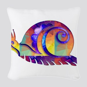 Polygon Mosaic Snail Multicolored Woven Throw Pill