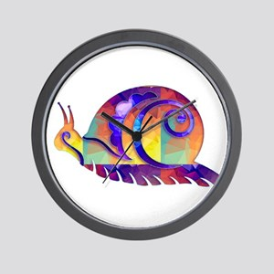 Polygon Mosaic Snail Multicolored Wall Clock