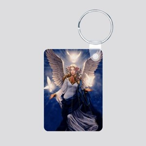 angel of light Aluminum Photo Keychain