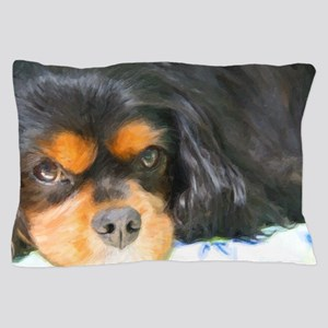 Painted Black & Tan Cavalier Pillow Case