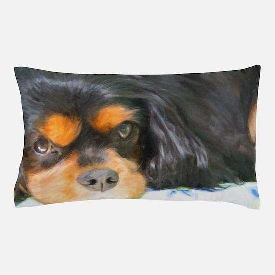Painted Black & Tan Cavalier Pillow Case